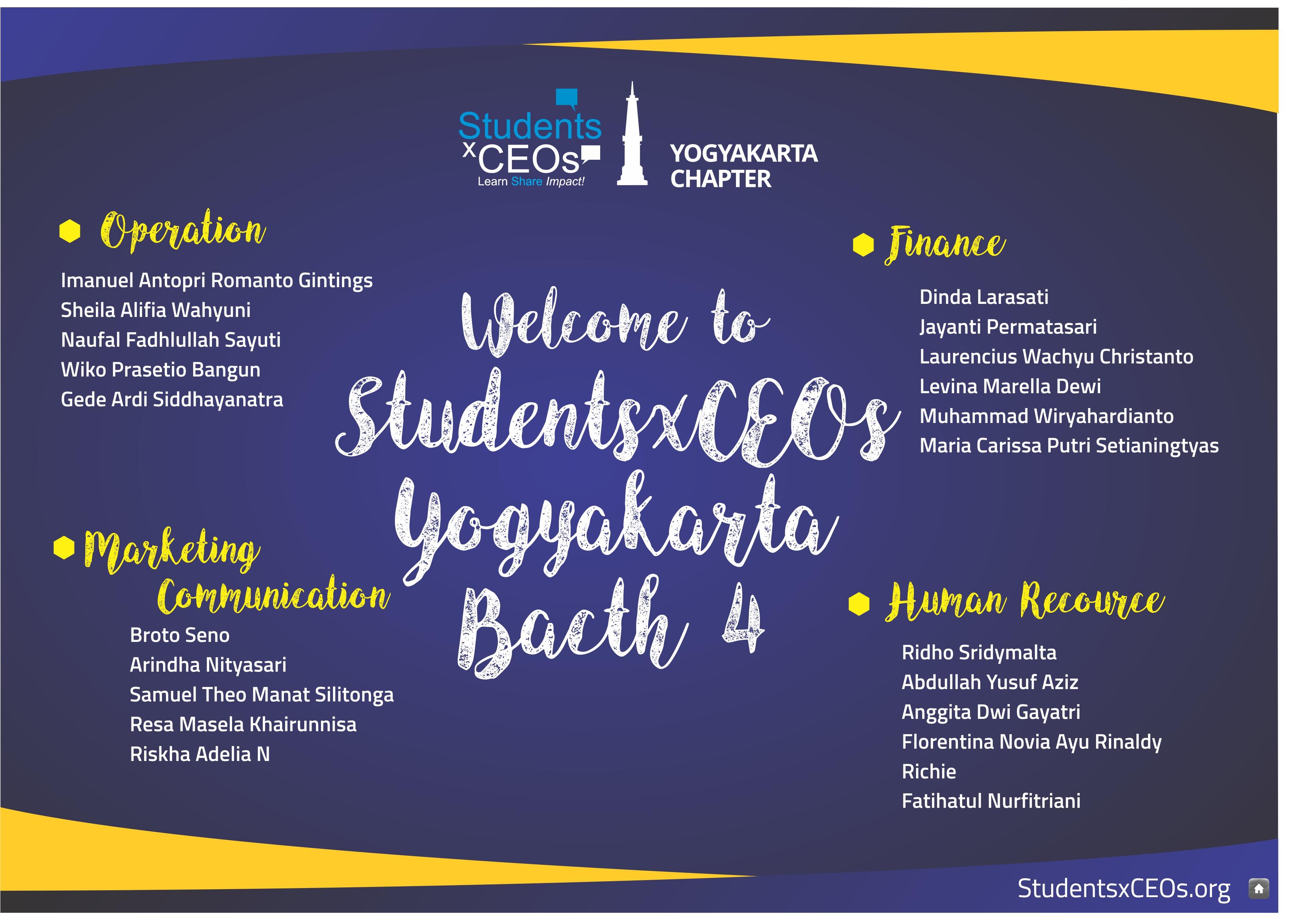 Membawa Brand StudentsxCEOs Jogja Level Up